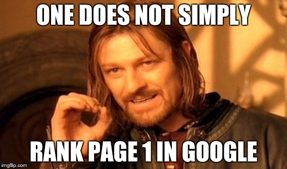 Page 1 google seo meme